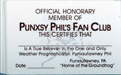 Official Punxsutawney Phil Fan Club Cards (20pk)