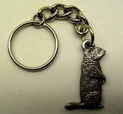 Pewter Groundhog Key Chain
