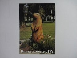 Post Card -Wooden Statue