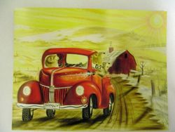 Postcard - Groundhog Truck