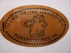 Pressed Penny-Home of the Groundhog