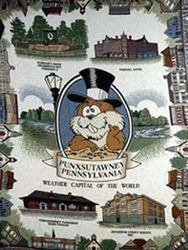 Punxsutawney Commemorative Cotton Throw