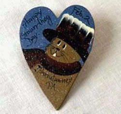 Punxsutawney Phil Blue Heart Magnet