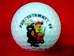 Punxsutawney Phil Golf Ball