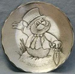 Punxsutawney Phil Hammered Aluminum Plate
