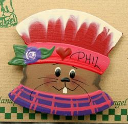 Punxsutawney Phil Red Hat Pin