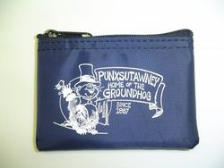 Punxsutawney Phil Zipper Coin Purse-Navy