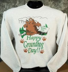 Adult Happy Groundhog Day Sweatshirt