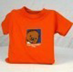 Toddler College Kids Baby Phil T-Shirt- Orange