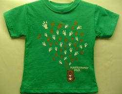 Toddler College Kids Groundhog Paw Kelly T-Shirt