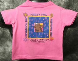 Toddler Square Phil T-Shirt-Hot Pink