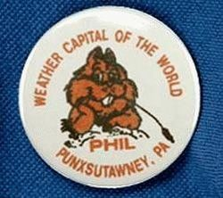 Weather Capital of the World Button Pin