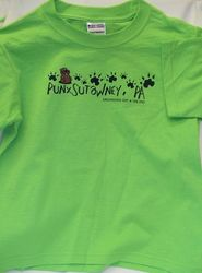 Youth Groundhog Paw T-Shirt-Lime Green