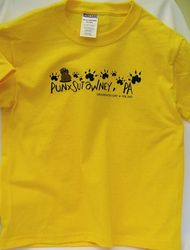 Youth Groundhog Paw T-Shirt-Yellow