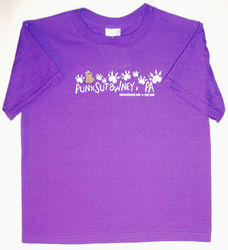 Youth Groundhog Paw Tshirt-purple