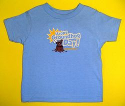 Youth  Happy Groundhog Day T-Shirt-Blue