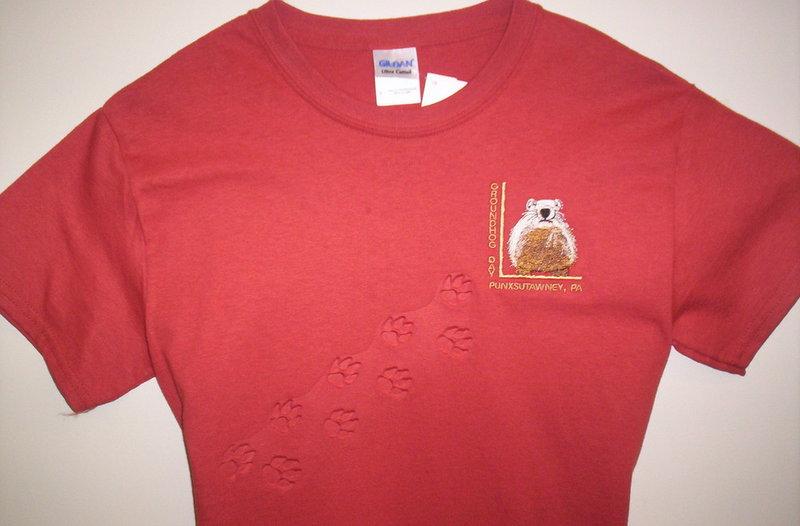 Adult Embossed Ghog T-Shirt 2X/3X Sku# 1190-2X Sku# 1191-3X
