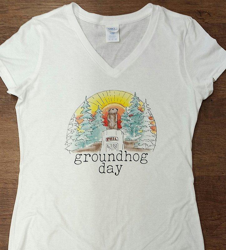 Adult Ghog Watercolor Tshirt sku#2358-S sku#2359-M sku#2360-L sku#2361-xlarge
