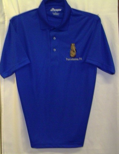 Adult Groundhog Golf Shirt Sku# 477-small Sku#478-medium Sku# 479-large Sku#480-xlarge