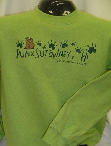 Adult Groundhog Paw Sweatshirt 2x,3X Sku# 761-2X Sku#762-3X