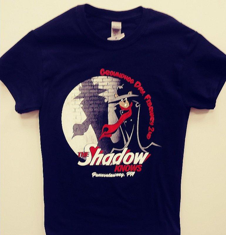 Adult Only the Shadow Knows Tshirt sku#2322-small Sku#2323-med sku#2324-large sku#2325-xlarge