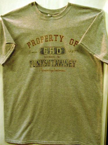 Adult Property of GHD T-Shirt-Gray 2x,3x Sku#654-2x Sku#655-3X