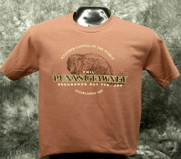 Adult Real Phil T-Shirt-Chestnut Sku# 531-small Sku# 532-medium Sku# 533-large Sku# 534-xlarge
