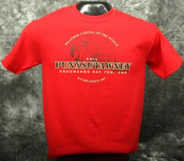 Adult Real Phil T-Shirt-Red 2x,3x Sku#541- 2X Sku# 542-3X