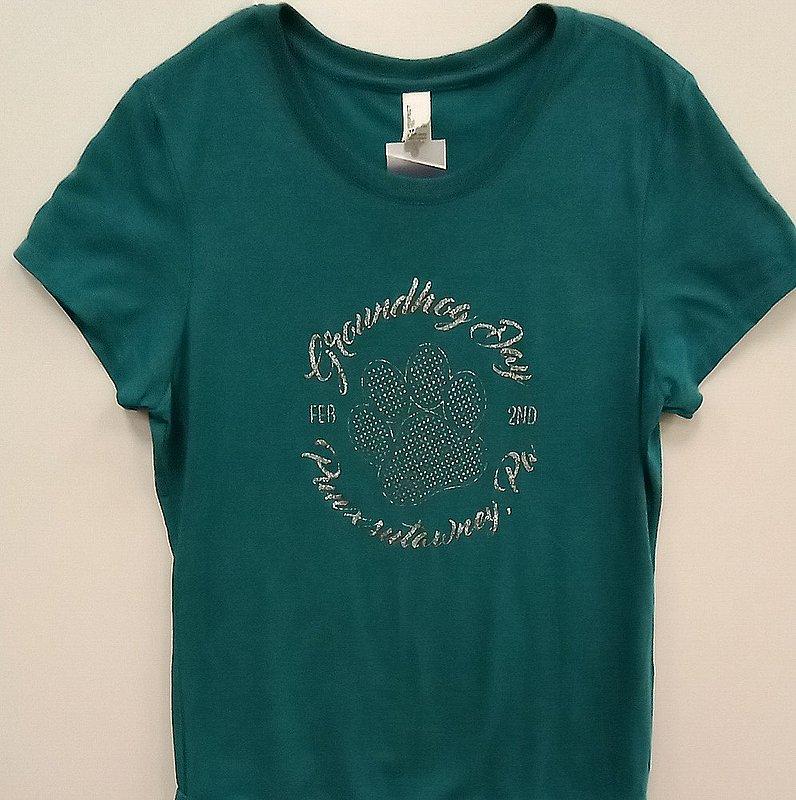 Adult Silver Luster Paw Tshirt Sku#2342-small Sku#2343-medium Sku#2344-large Sku#2345-xlarge