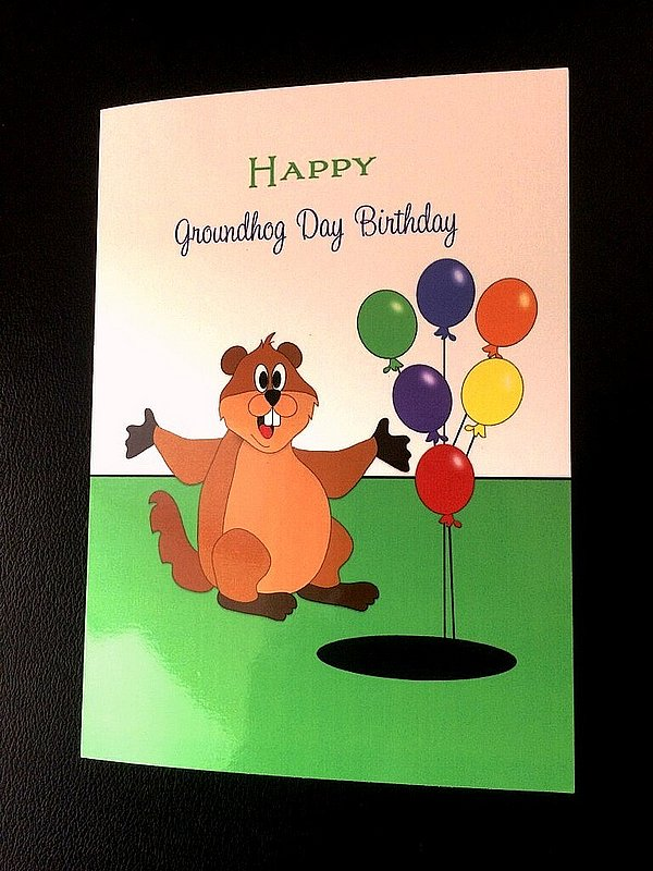 Balloon Ghog Bday Card sku#2082