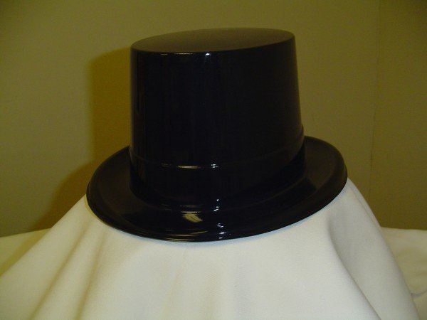 Black Plastic Top Hat Sku# 11