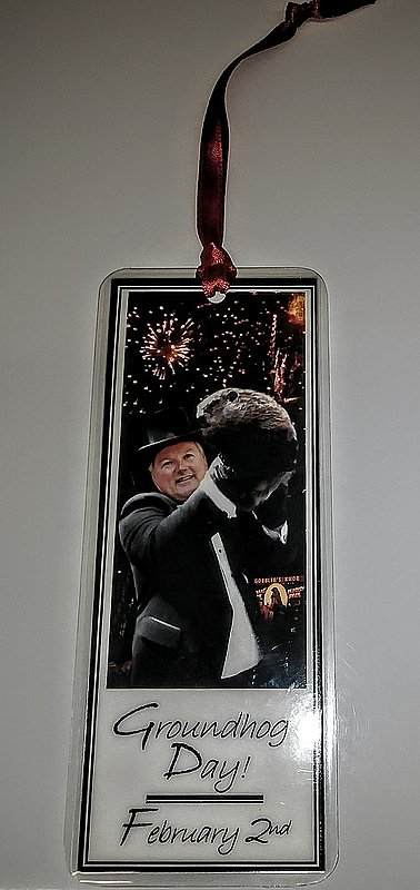 Bookmark - Punxsutawney Phil & Bill with Fireworks Sku# 247
