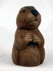 Ceramic Groundhog Statue Sku# 93