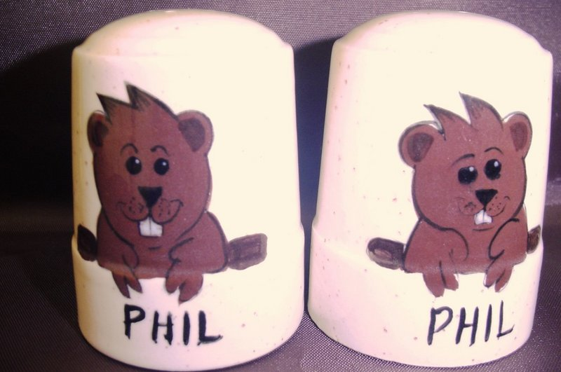 "Ceramic ""Phil"" Salt/Pepper Shakers Sku#1521"