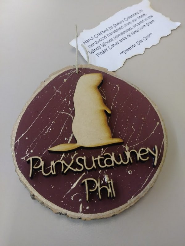 Creative Wooden Phil Ornament Sku#1882