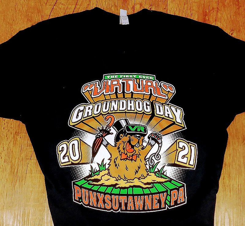 First Ever Virtual Groundhog Day Tshirt sku#2261-small sku#2262-med sku#2263-large sku#2264