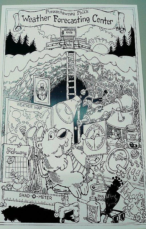 Forecaster Coloring Poster sku#2113