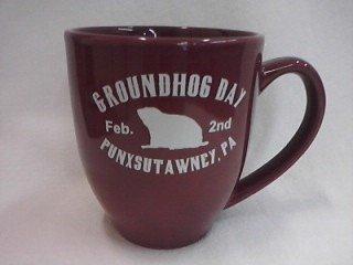Ghog Day Bistro Mug (maroon) Sku#1530
