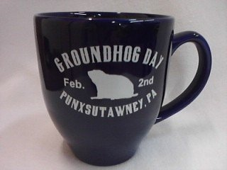 Ghog Day Bistro Mug (royal blue) Sku#1529