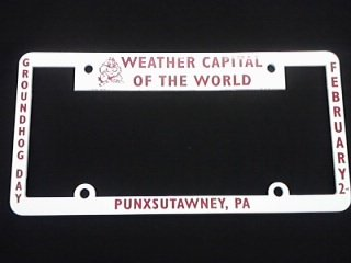Ghog Day License Plate Holder Sku# 1232