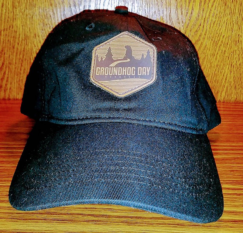 Gobbler's Knob Black Hat with leather patch sku# 2297