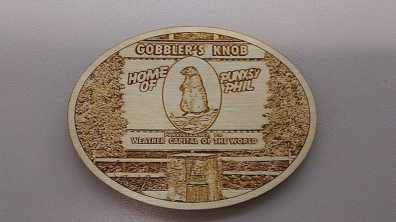 Gobbler's Knob Wooden Magnet