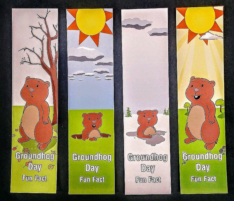 Groundhog Day Fact Bookmarker Sku#1630