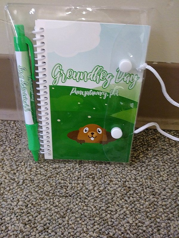 Groundhog Day Notebook/Pen Set Sku#2030