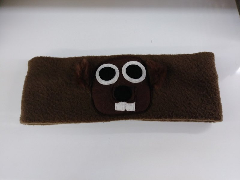 Groundhog Face Headband Sku# 15