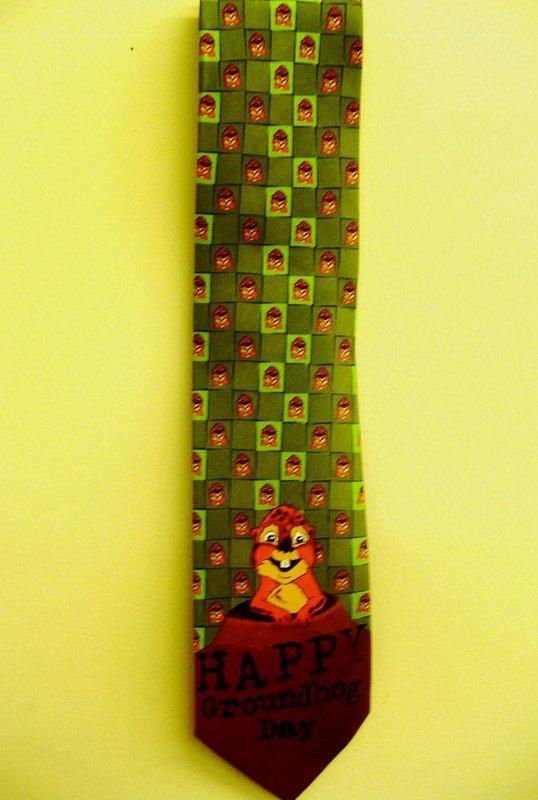 Groundhog Microfiber Tie Sku#1487