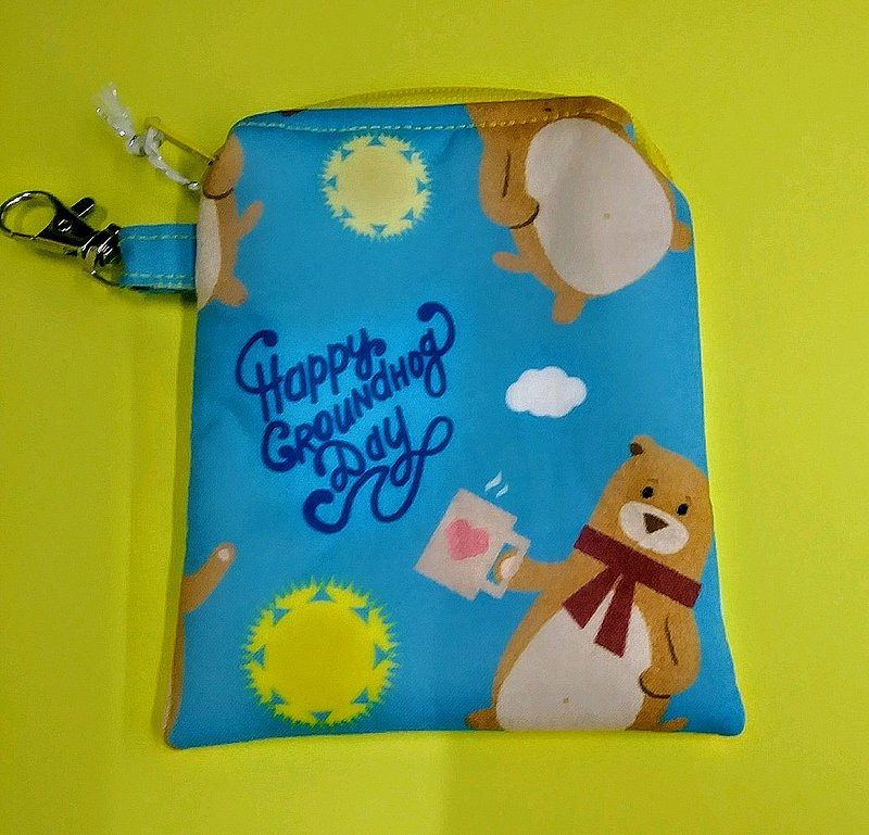 *Groundhog Print Small Pouch Sku#2114