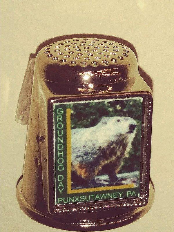 Groundhog Souvenir Thimble Sku#2059
