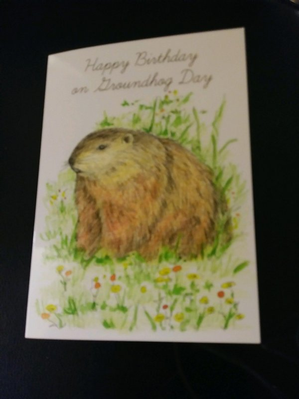 Happy Ghog/Bday Card Sku#1938