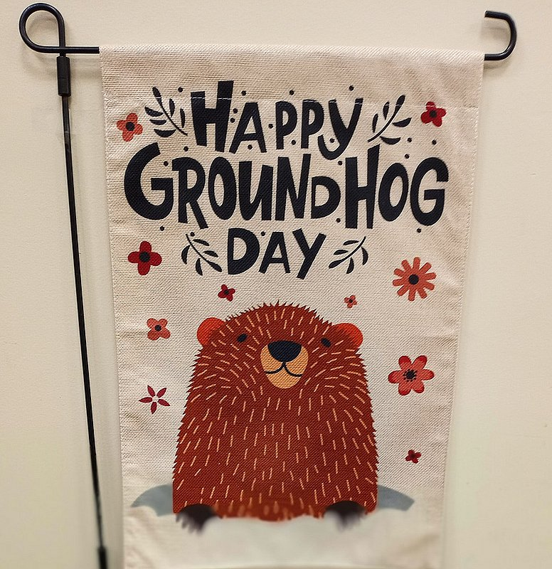 Happy Groundhog Day Garden Flag sku#2330 (stand not included)